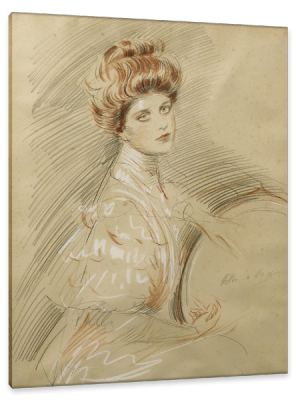 Portrait de Femme, c.1895, Pastel on Canvas