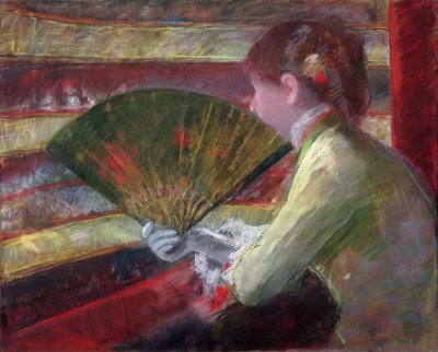 In the Loge, c.1888, Pastel on Canvas