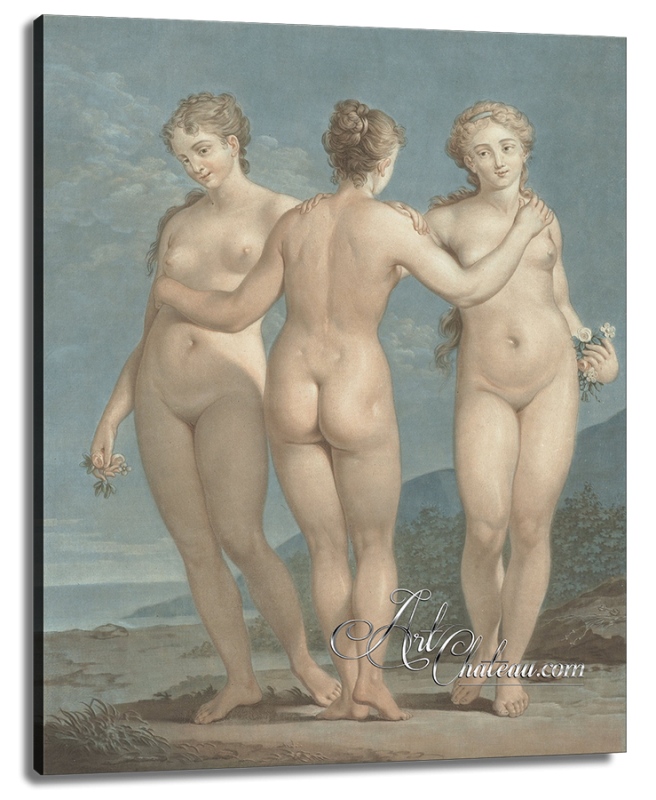 The Three Graces, after Jean-Francois Janinet