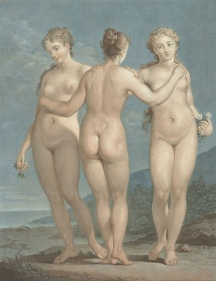 The Three Graces, c.1787, Pastel on Parchment