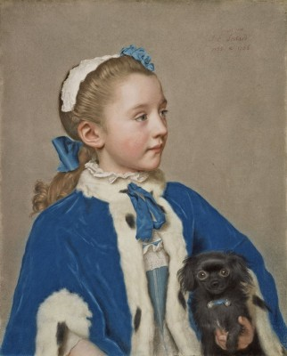 Portrait of Maria van Reede at Seven Years of Age, c.1756, Pastel on Parchment