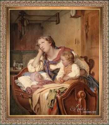 A family Idyl, after Johann Georg Meyer von Bremen