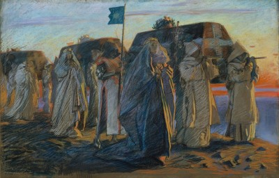 Dirge of the Three Queens, c.1895, Pastel on Parchment