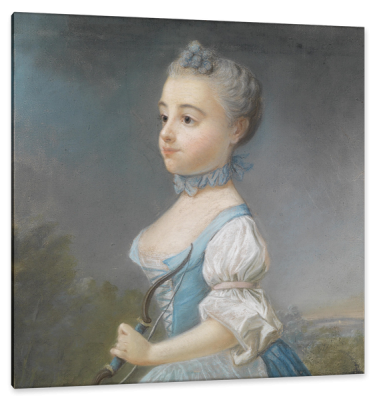 Portrait of a Young Girl as Diana, c.1756, Pastel on Parchment