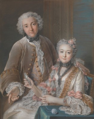 François de Jullienne and His Wife Marie, c.1743, Pastel on Parchment