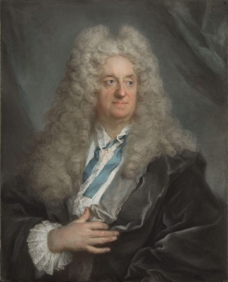 Samuel Bernard, c.1725, Pastel on Blue Paper