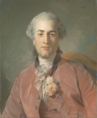Portrait of Olivier Journu, c.1756, Pastel on Blue-Gray Laid Paper