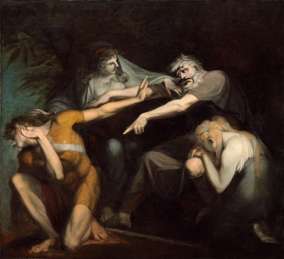 Oedipus Cursing His Son, Polynices, c.1786, Pencil, Guasch, and Pastel on Paper