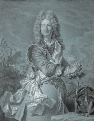 Portrait of a Marshal of France, c.1740, Black Chalk and Pastel on Paper