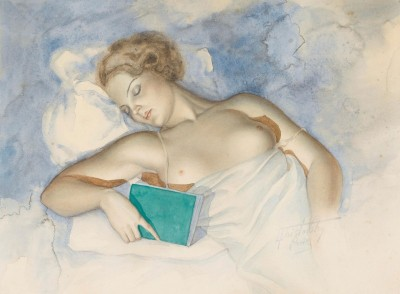 Sleeping Nude, c.1934, Watecolor on Paper