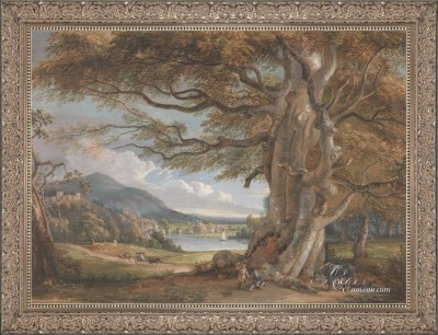 Bridgenorth-Shropshire-England, after Paul Sandby