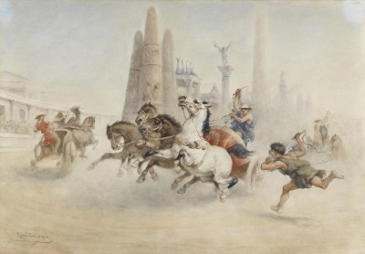 Roman Chariot Race, c.1890, Oil on Canvas