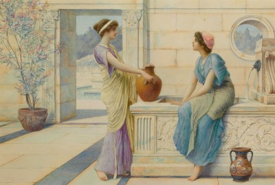 Gossip of the Corinthian Women, c.1901, Watercolor on Parchment