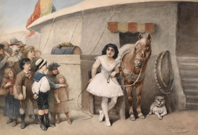 Circus Princess, c.1890, Watercolor on Parchment