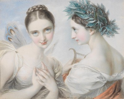 Two Muses, c.1814, Watercolor on Paper