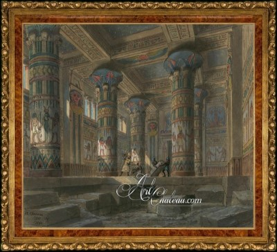 Set Design for Verdi's Opera Aida, after Philippe Chaperon