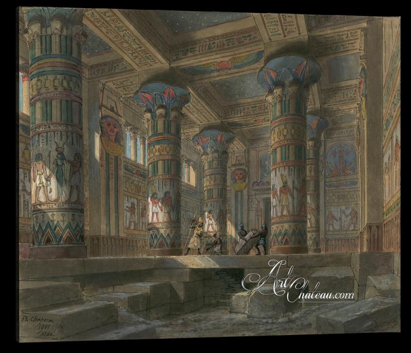 Set Design for Verdi's Opera Aida, after Philippe Chaperon