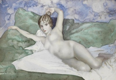 Reclining Nude, c.1930, Water Color on Paper