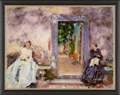Preston Hollow, Dallas Interior Design, John Singer Sargent Painting