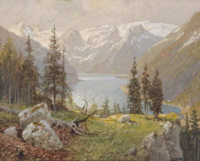 Lake Hallstadt, c.1922, Watercolor on Paper