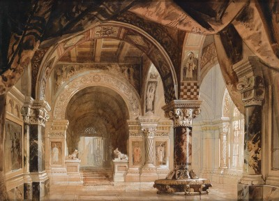 Interior from the Doge's Palace, c.1893, Watercolor on Paper