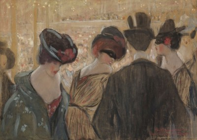 Bal-Bulliers, Paris, c.1910, Gouache, and Pastel on Paper