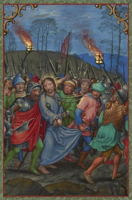 The Arrest of Christ, c.1520, Tempera colors, gold paint, and gold leaf on parchment
