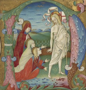 Adoration of Christ, c.1465, Tempera colors, gold leaf, and ink on parchment