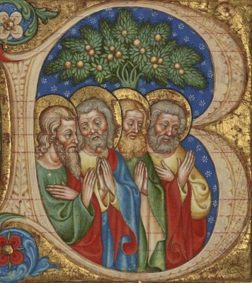 Four Saints, c.1450, Tempera and gold on parchment