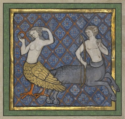 Vanity and Hypocrisy, c.1270, Tempera colors, gold leaf, and ink on parchment