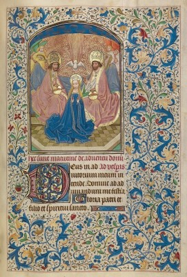 The Coronation of the Virgin, c.1460, Tempera colors, gold leaf, and ink on parchment