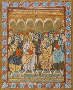 Pentecost, c.1050, Tempera colors and gold on parchment