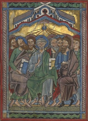Pentecost, c.1250, Tempera colors, gold leaf, and silver leaf on parchment