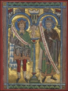David and Joel, c.1240, Tempera colors, gold leaf, and silver leaf on parchment
