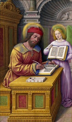 Matthew the Evangelist, from the Grandes Heures of Anne of Brittany, c.1500, Tempera colors on parchment