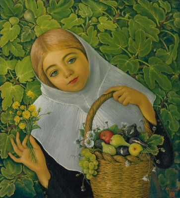 Gathering Fruit and Flowers, c.1926, Oil on Canvas