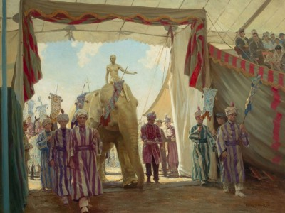 The Circus Pageant, c.1922, Oil on Canvas