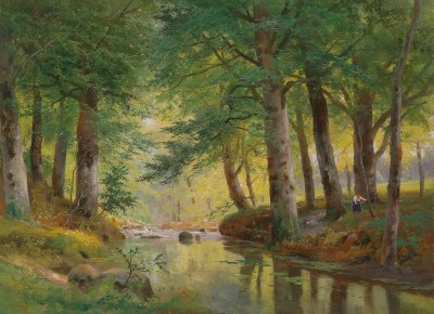 Woodland Landscape, c.1920, Oil on Canvas