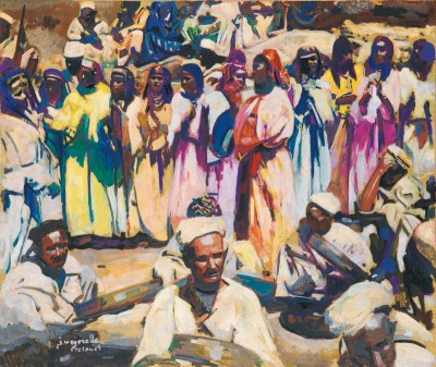 Feast of the Aouache in Telouet, Morocco, c.1928, Oil on Canvas