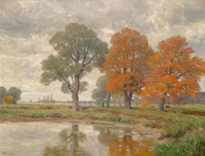 A Day in Late Autumn, c.1915, Oil on Canvas