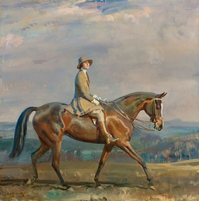 Portrait of Mrs. Margaretta Park Frew, While Riding, c.1924, Oil on Canvas