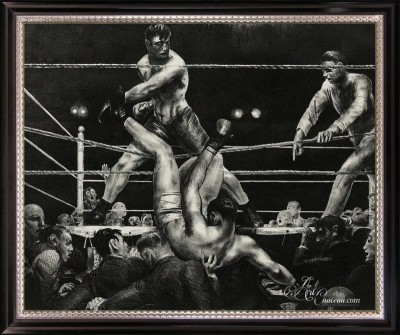 Dempsey and Firpo, after George Wesley Bellows