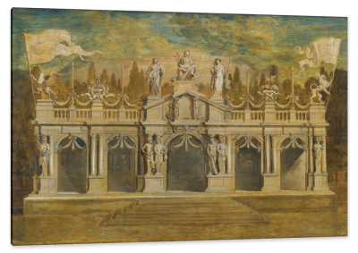 A Design for a Classical Loggia, c.1648, Oil on Oak Panel