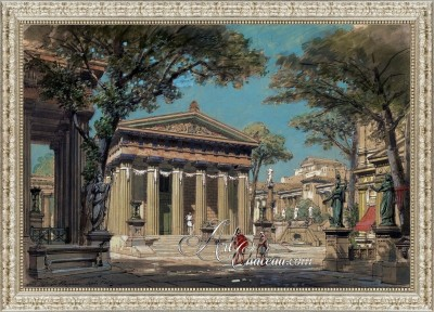 Set Design for the Opera Sapho, after Philippe Chaperon