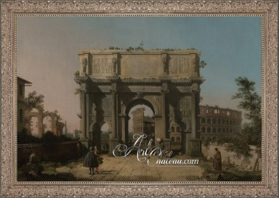 The Arch of Constantine, after Painting by Canaletto