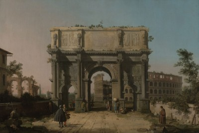 View of the Arch of Constantine with the Colosseum, c.1745, Oil on Canvas