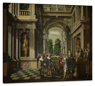 The Gallery of a Royal Palace, c.1633, Oil on Canvas