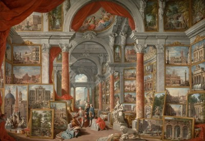 Picture Gallery with View's of Modern Rome, c.1730, Oil on Canvas
