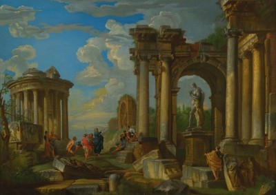 Roman Ruins With Classical Figures, c.1728, Oil on Canvas