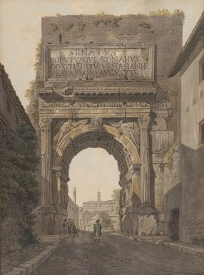 The Arch of Titus, Rome, c.1781, Ink and Watercolor on Parchment